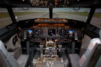A full size 737NG flight simulator.