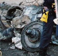 An aircraft engine rotor at the Pentagon crash.