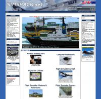 Screenshot of the SimShack.net website in July, 2012.