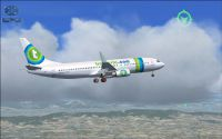 Flying a mission in a Transavia 737.