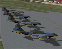 Screenshot of TT18 Squadron on the ground.