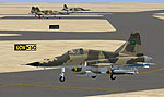 Screenshot of Royal Saudi Air Force F5E/F on runway.