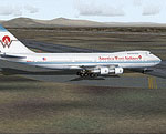 Screenshot of AWA Boeing 747-200 on the ground.