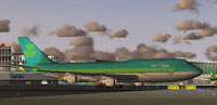 Screenshot of Aer Lingus Boeing 747-300 Combi on the ground.