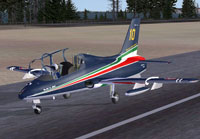 Screenshot of Aermacchi MB-339A PAN on runway.