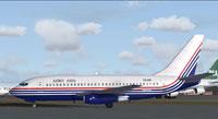 Screenshot of Aero Asia Boeing 737-281 on the ground.