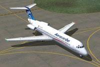 Screenshot of Aerocaribe Douglas DC-9-32 on the ground.