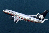 Screenshot of Aeromexico Boeing 737-700 in flight.