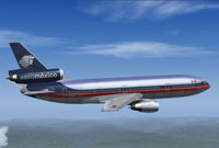 Screenshot of Aeromexico Douglas DC-10-30 in flight.