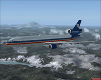 Screenshot of Aeromexico McDonnell Douglas MD-11 in flight.