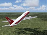 Screenshot of Air Canada Boeing 767-200 in flight.