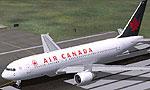 Screenshot of Air Canada Boeing 767-200ER on runway.