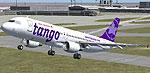 Screenshot of Air Canada Tango Airbus A320-200 taking off.