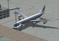 Screenshot of Air China Airbus A340-313X at the gate.