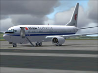 Screenshot of Air China Boeing 737-800 on the ground.