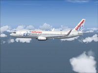 Screenshot of Air Europa Boeing 737-800 in flight.