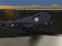 Screenshot of Air France Boeing 747-200 taking off.