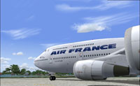 Screenshot of Air France Boeing 747-400 on the ground.