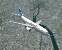 Screenshot of Air Inter Airbus A300B4-2C in flight.