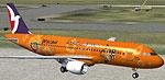 Screenshot of Air Macau Airbus A320-200 in special paint.