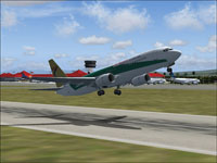 Screenshot of Air Paradise Boeing 737-800 taking off.