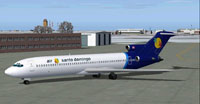 Screenshot of Air Santo Domingo Boeing 727-200 on the ground.