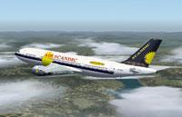 Screenshot of Air Scandic Airbus A300B4-203 in flight.