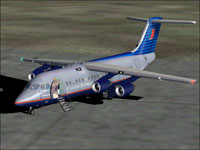 Screenshot of Air Wisconsin Airlines Corp BAC-146 on the ground.
