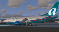 Screenshot of AirTran Boeing 737-700 on the ground.