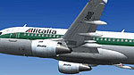 Screenshot of Alitalia Airbus A319-100 in flight.