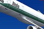 Screenshot of Alitalia Airbus A321-111 in flight.