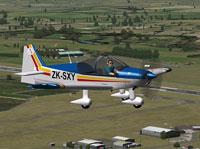 Screenshot of Alpha 160A in flight.