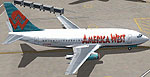 Screenshot of America West Boeing 737-200 on the ground.