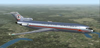 Screenshot of American Airlines Boeing 727-200 in flight.