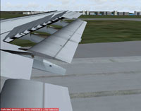 Screenshot of animated wing on A300.