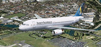 Screenshot of Ansett Airbus A320 in flight.