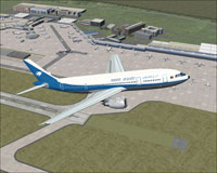 Screenshot of Ariana Afghan Airbus A300B4-203 in flight.