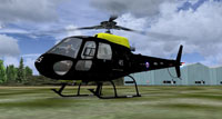 Screenshot of Army Air Corps AS350 Squirrel HT2 on the ground.