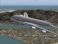 Screenshot of Asiana Airbus A380-800 in flight.