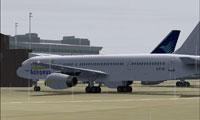 Screenshot of Astraeus Boeing 757-200 on the ground.