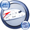 Icon showing Austrian Airbus A319-111 in flight.