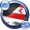 Icon showing tail decal of Austrian Airlines Airbus A321-111.