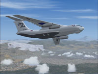 Screenshot of Aviacon-Zitotrans Ilyushin Il-76TD in flight.