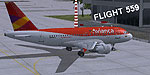 Screenshot of LAA jetliner at airport.