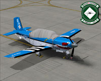 Screenshot of Beech T-34C Turbo Mentor VMFAT-101 on the ground.
