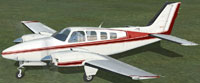 Screenshot of Beechcraft 58 Baron on the ground.