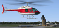 Screenshot of Bell 206B Jet Ranger III N7359C in the air.
