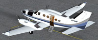 Screenshot of Blue And White Cessna 414A Chancellor.