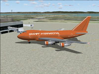 Screenshot of Braniff Boeing 747SP-27 on the ground.