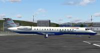 Screenshot of British Airways CitiExpress ERJ 145 on the ground.